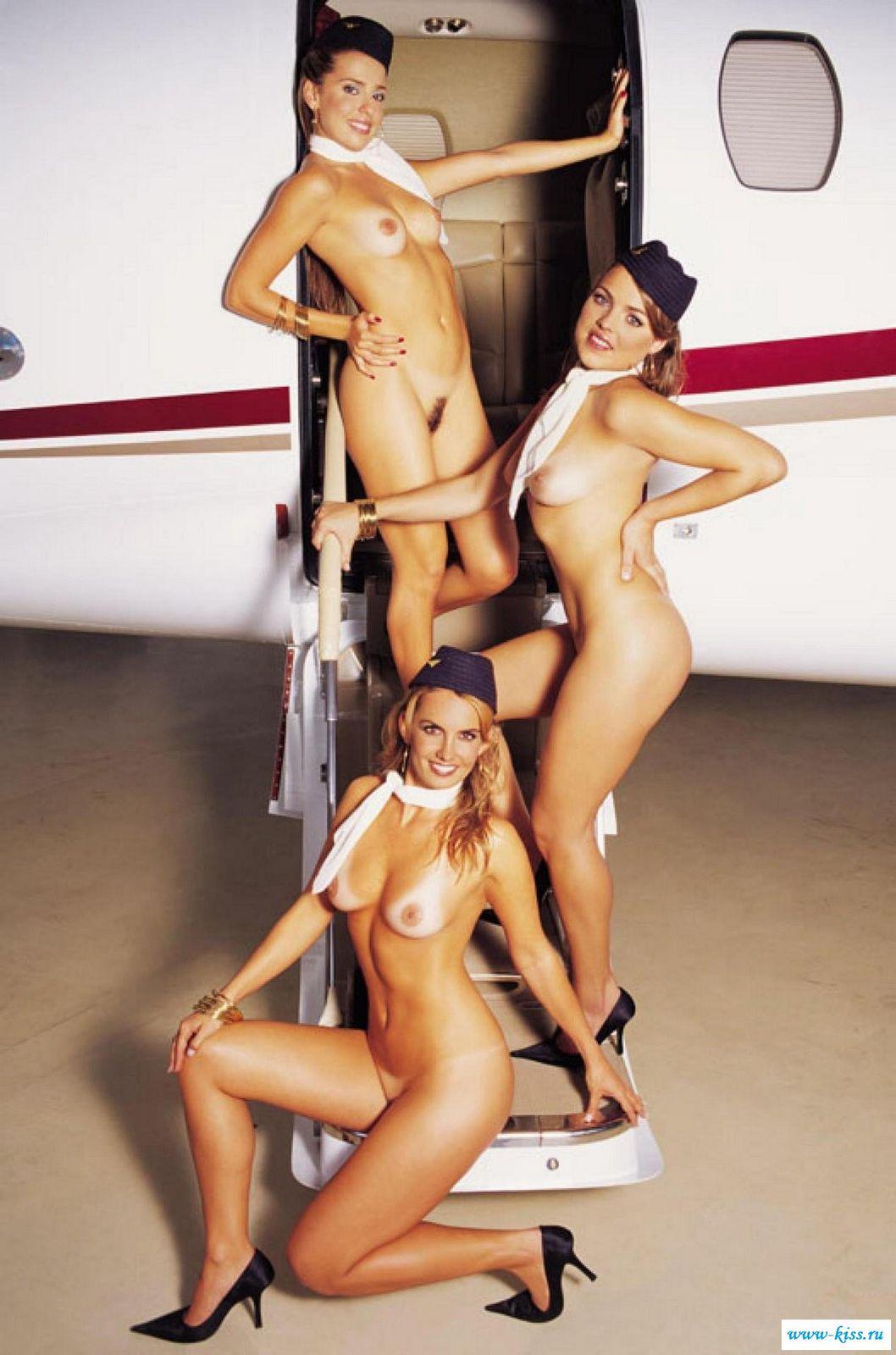 Элитные раздетые стюардессы - фото